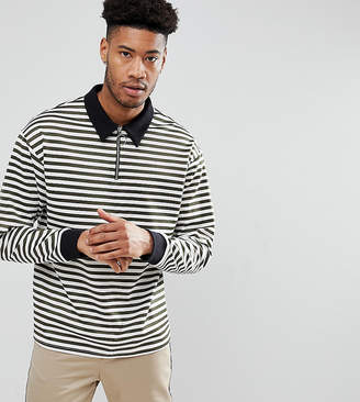Reclaimed Vintage Inspired TALL Long Sleeve Top In Stripe