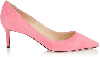 Jimmy Choo ROMY 60 Flamingo Suede Pointy Toe Pumps