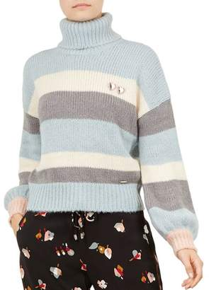 Ted Baker Colour by Numbers Moliea Striped Turtleneck Sweater