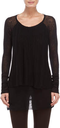 Tandem Double-Layer Long Sleeve Tee