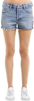 Levi's Zip Detail Cotton Denim Shorts