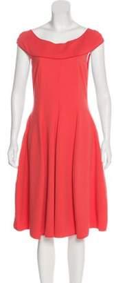 Armani Collezioni Sleeveless Midi Dress Coral Sleeveless Midi Dress