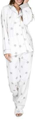 PJ Salvage Two-Piece Star-Print Cotton Pyjama Set
