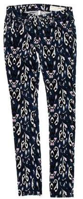 Rag & Bone Printed Low-Rise Skinny Jeans w/ Tags