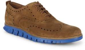 Cole Haan Textured Suede Brogues
