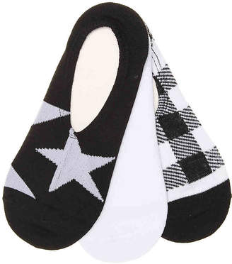 Converse Gingham Made For Chucks No Show Liners - 3 Pack - Women's
