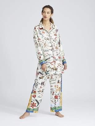 Oscar de la Renta Silk Road King Twill Pajama Pants