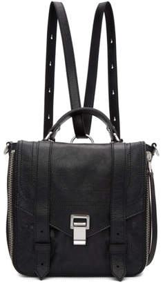 Proenza Schouler Black PS1and Zip Backpack