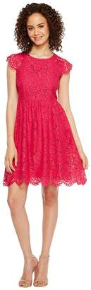 Jessica Simpson Lace Fit and Flare Dress JS7A9597 Women's Dress