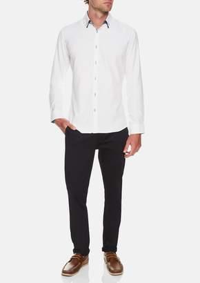 TAROCASH White Romeo Textured Shirt