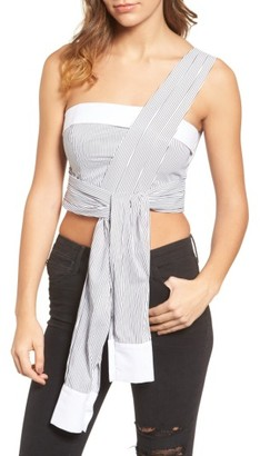 Women's Kendall + Kylie Sleeve Wrap Crop Top $150 thestylecure.com