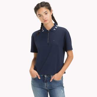 Tommy Hilfiger Logo Collar Cropped Polo