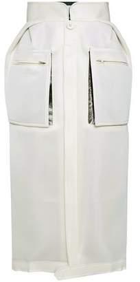 Maison Margiela Metallic-Paneled Neoprene Midi Skirt