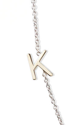 Maya Brenner Designs 14k White Gold Mini Letter Necklace