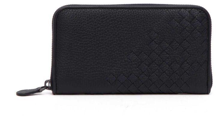 Bottega VenetaBottega Veneta Cervo Zip Around Wallet With Inrecciato Details