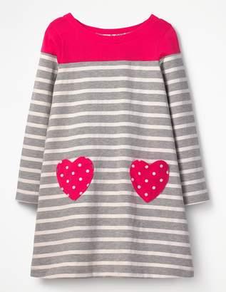 Boden Heart Pocket Jersey Dress