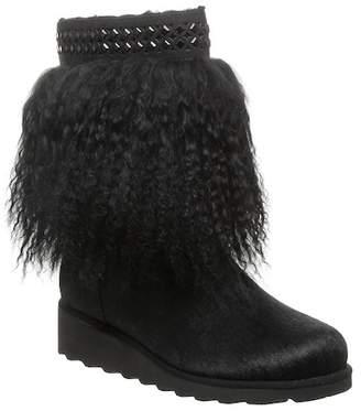 BearPaw Elise Genuine Lamb & Calf Hair Genuine Sheepskin Footbed Pull-On Boot