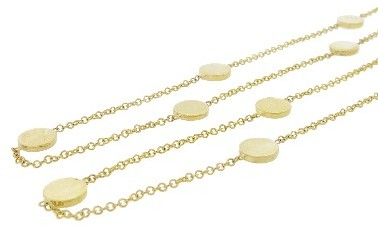 Jennifer Meyer 44 Inch Yellow Gold Circle Necklace