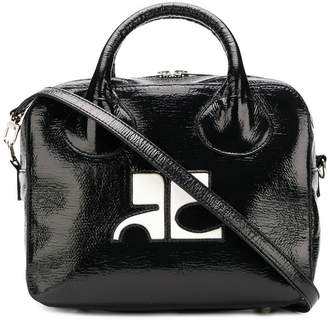Courreges contrast logo tote bag