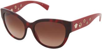 Versace VE4317 Burgundy Tortoiseshell-Look Cat Eye Sunglasses
