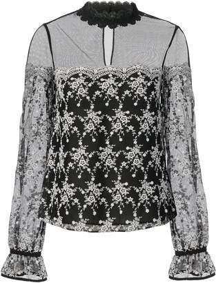 Intermix Amira Embroidered Blouse