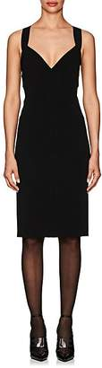 Narciso Rodriguez Women's Compact-Knit Fitted Dress - Black