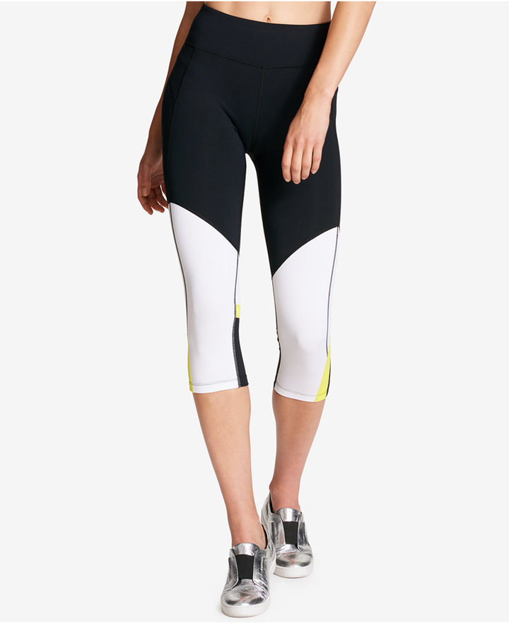 Dkny Sport Colorblocked Cropped Leggings