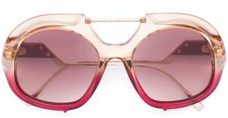 Fendi Eyewear oversized gradient frame sunglasses