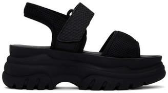 e2bafcd8c02f Joshua Sanders Black Mesh Spice Platform Sandals
