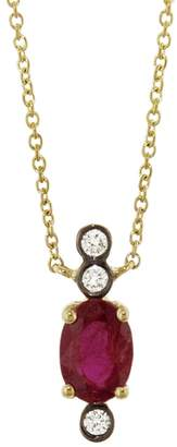 Yannis Sergakis Adornments Charnières Vertical Oval Rouge Necklace - Yellow Gold
