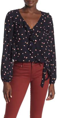 Heartloom Lumiere Side Bow Ruffled V-Neck Blouse