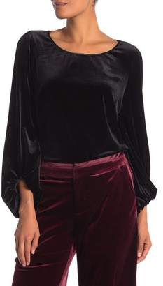 Laundry by Shelli Segal Scoop Neck Keyhole Velvet Top