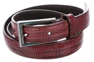Prada Lizard Thin Belt