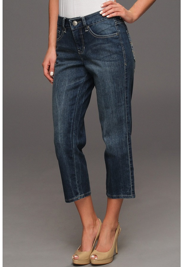 Jag Jeans Canyon Crop in Porpoise (Porpoise) - Apparel