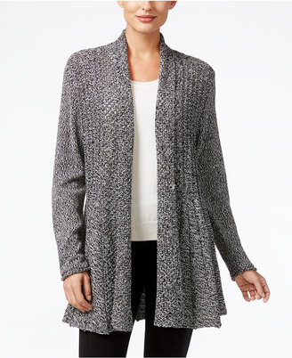 NY Collection Marled-Knit Open-Front Cardigan $60 thestylecure.com