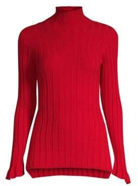 Beatrice. B Rib-Knit Turtleneck Sweater