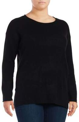 Lord & Taylor Plus Relaxed Cashmere Pullover