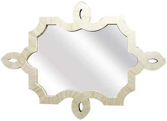 One Kings Lane Modern Bone Mirror - White
