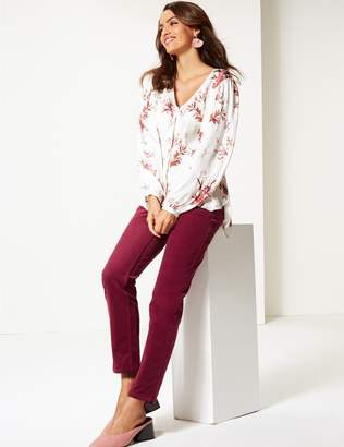Marks and Spencer Cotton Rich Corduroy Slim Leg Trousers