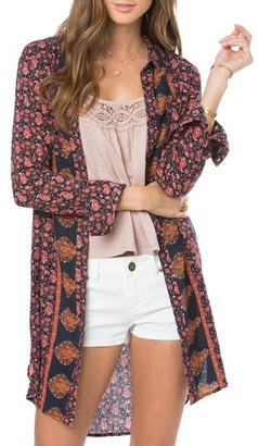 O'Neill 'Bloom' Floral Print Woven Tunic $54 thestylecure.com