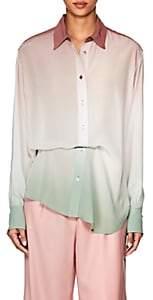 Sies Marjan Women's Sander Gradient Silk Blouse - Deg Mauve Seafoam
