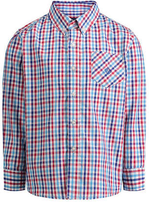 Andy & Evan Tattersall Check Button-Down Shirt, Size 2-6X