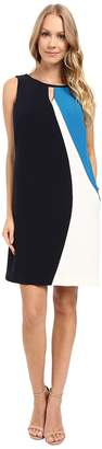 Ellen Tracy Asymmetrical Seamed Shift Dress Women's Dress
