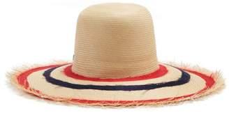Fila FilÃ1 hats Hats - Bali Buntal Striped Wide Brimmed Straw Hat - Womens - Red Navy