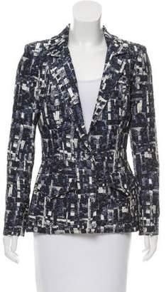 Oscar de la Renta Textured Silk-Blend Blazer w/ Tags