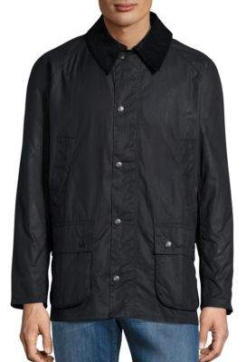 Barbour Ashby Waxed Corduroy-Trim Jacket