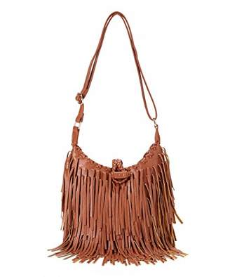 Pink Haley Fringe Cross Body