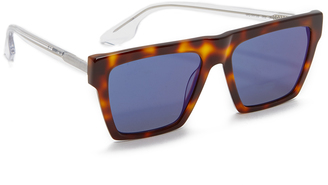 McQ - Alexander McQueen Oversized Flat Top Sunglasses $149 thestylecure.com