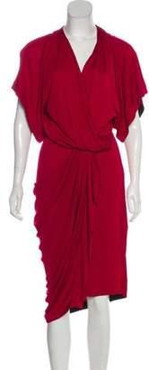 Vionnet Short Sleeve Midi Dress