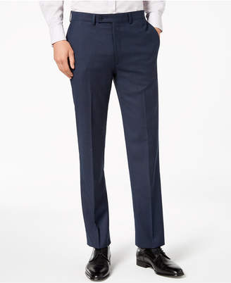 Calvin Klein Men's Slim-Fit Stretch Blue/Charcoal Birdseye Suit Pants